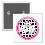Bunco Babes Roll With It - Pink 15 Cm Square Badge