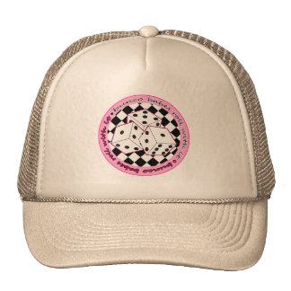 Bunco Babes Roll With It - Pink Mesh Hats