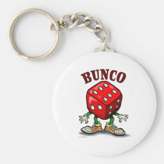 Bunco Basic Round Button Key Ring
