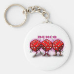 Bunco Basic Round Button Key Ring