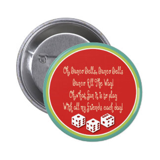 bunco bells, bunco bells 6 cm round badge