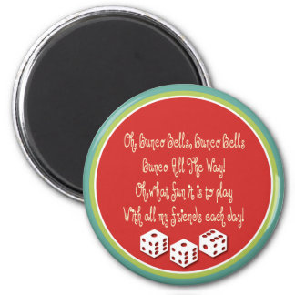 bunco bells, bunco bells 6 cm round magnet