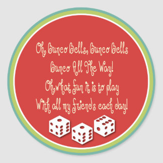 bunco bells, bunco bells round sticker