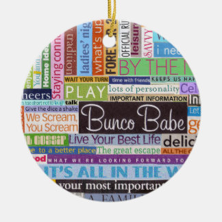 Bunco Best Christmas Ornament