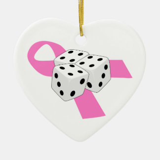 Bunco Cancer Support Christmas Ornament