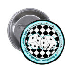 Bunco Chicks Roll With It - Blue 6 Cm Round Badge