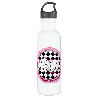 Bunco Chicks Roll With It - Pink 710 Ml Water Bottle