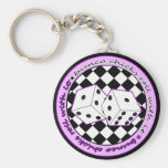 Bunco Chicks Roll With It - Purple Key Chain