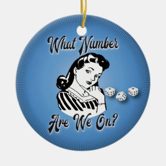 Bunco Christmas Ornament - Retro What Number