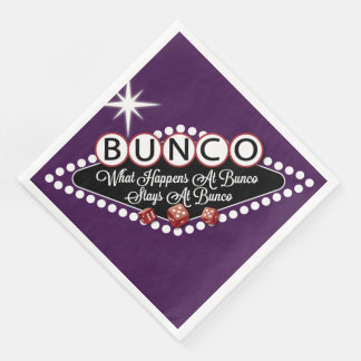 Bunco Dice - What Happens At Bunco Stays At Bunco Paper Napkin