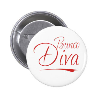 bunco diva 6 cm round badge