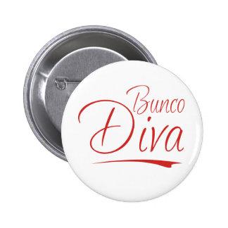 bunco diva pinback button