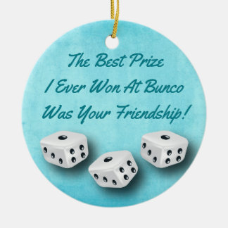 Bunco Friendship Dice Watercolor Christmas Christmas Ornament