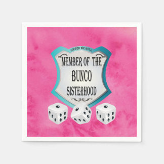 Bunco Fundraiser Pretty Pink Dice Party Napkins Paper Napkin
