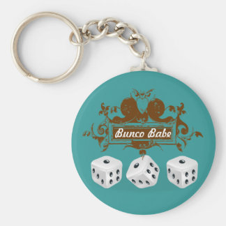 bunco game design basic round button key ring