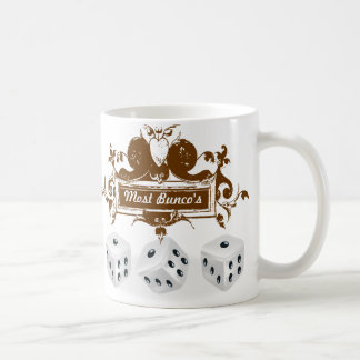 bunco game design coffee mug