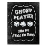Bunco Ghost Player Postcards