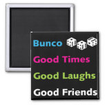 bunco good friends #2 square magnet