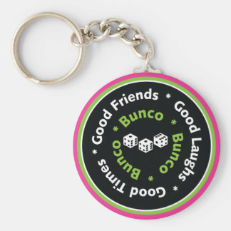 bunco good friends basic round button key ring