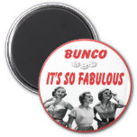 bunco it's so fabulous 6 cm round magnet