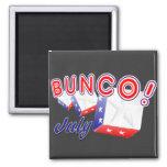 bunco july square magnet