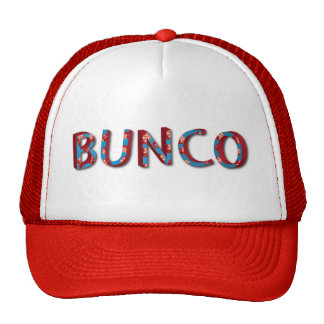 Bunco letters with bunco dice cap