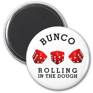 Bunco Night 6 Cm Round Magnet