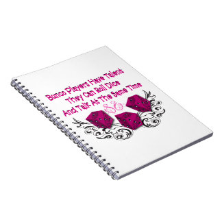 Bunco Players Note Keeping Notebook