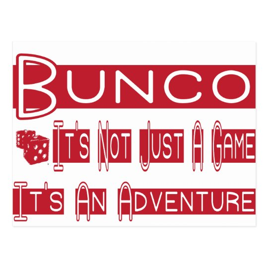 bunco players postcard