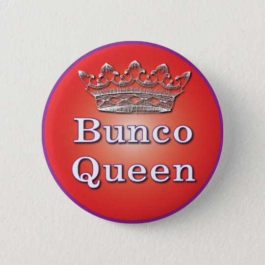 bunco queen button