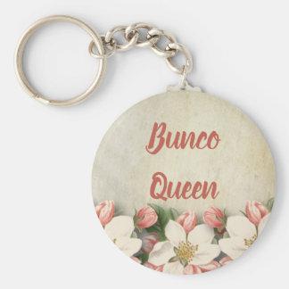 Bunco Queen Vintage Flower Garden Key Ring