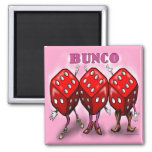 Bunco Refrigerator Magnets