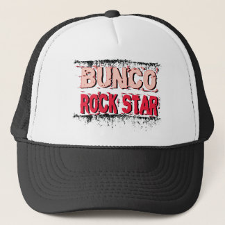 bunco rock star in pink trucker hat