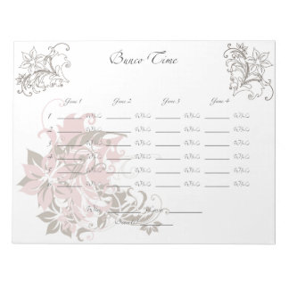 Bunco Sheet Notepad