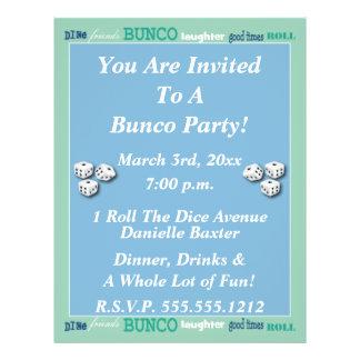 Bunco Subway Art Invite 21.5 Cm X 28 Cm Flyer
