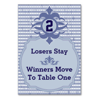Bunco Table Card - Purple Plaid #2