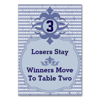 Bunco Table Card - Purple Plaid #3