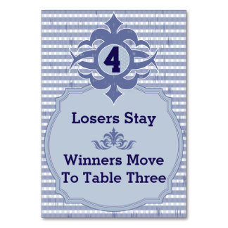 Bunco Table Card - Purple Plaid #4