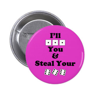 Bunco Warning 6 Cm Round Badge