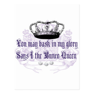 bunco - you may bask in my glory postcard