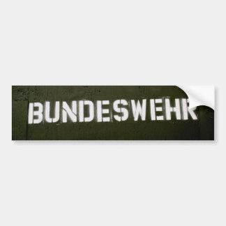 Bundeswehr Car Bumper Sticker