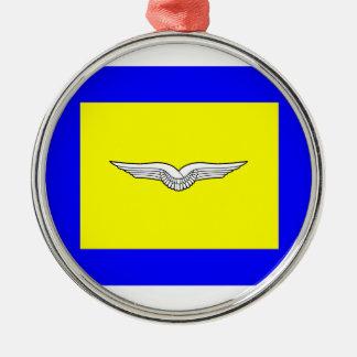 Bundeswehr Luftwaffe Geschwader Round Metal Christmas Ornament