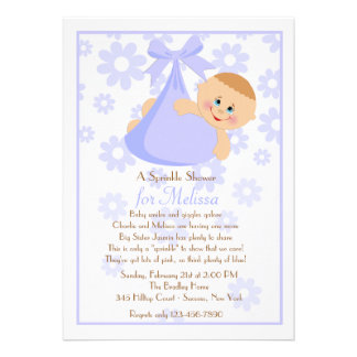 Bundle of Joy Bl Sprinkle Baby Shower Invitation