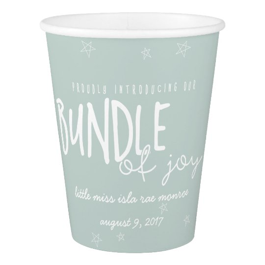 BUNDLE OF JOY PAPER CUP