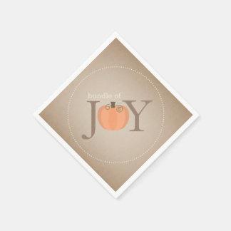 Bundle Of Joy Pumpkin Fall Baby Shower Napkins Disposable Napkin