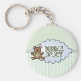 Bundle of Joy Teddy Bear Basic Round Button Key Ring
