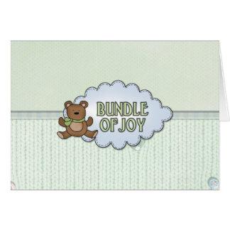Bundle of Joy Teddy Bear Greeting Card