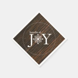 Bundle Of Joy Wood Inspired Winter Baby Shower Paper Serviettes