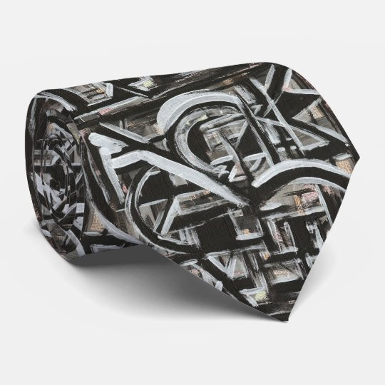 Bungalow-Hand Painted Abstract Brushstrokes Tie