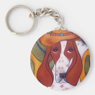 Bungalowart.com Desert Hound Keychain